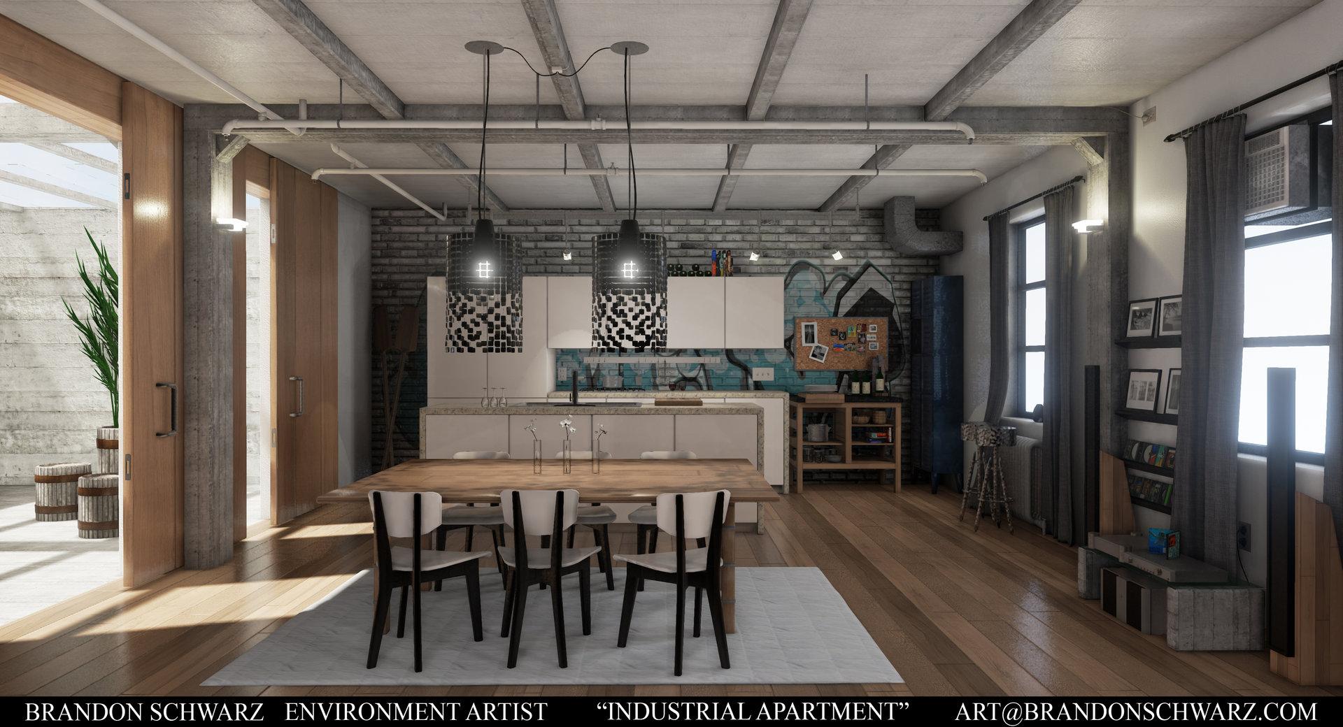 Brandon Schwarz Modern Industrial Apartment Game