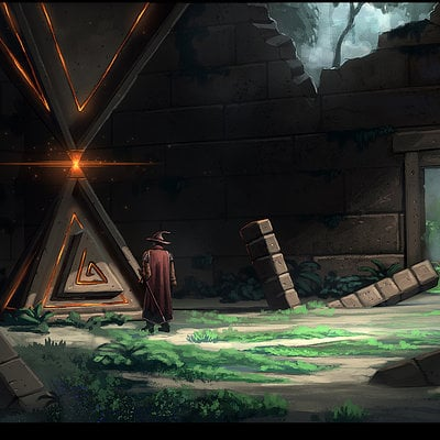 Travis lacey temple traingle fantasy jungle concept conceptual art mmo design digital art digitalart 3d