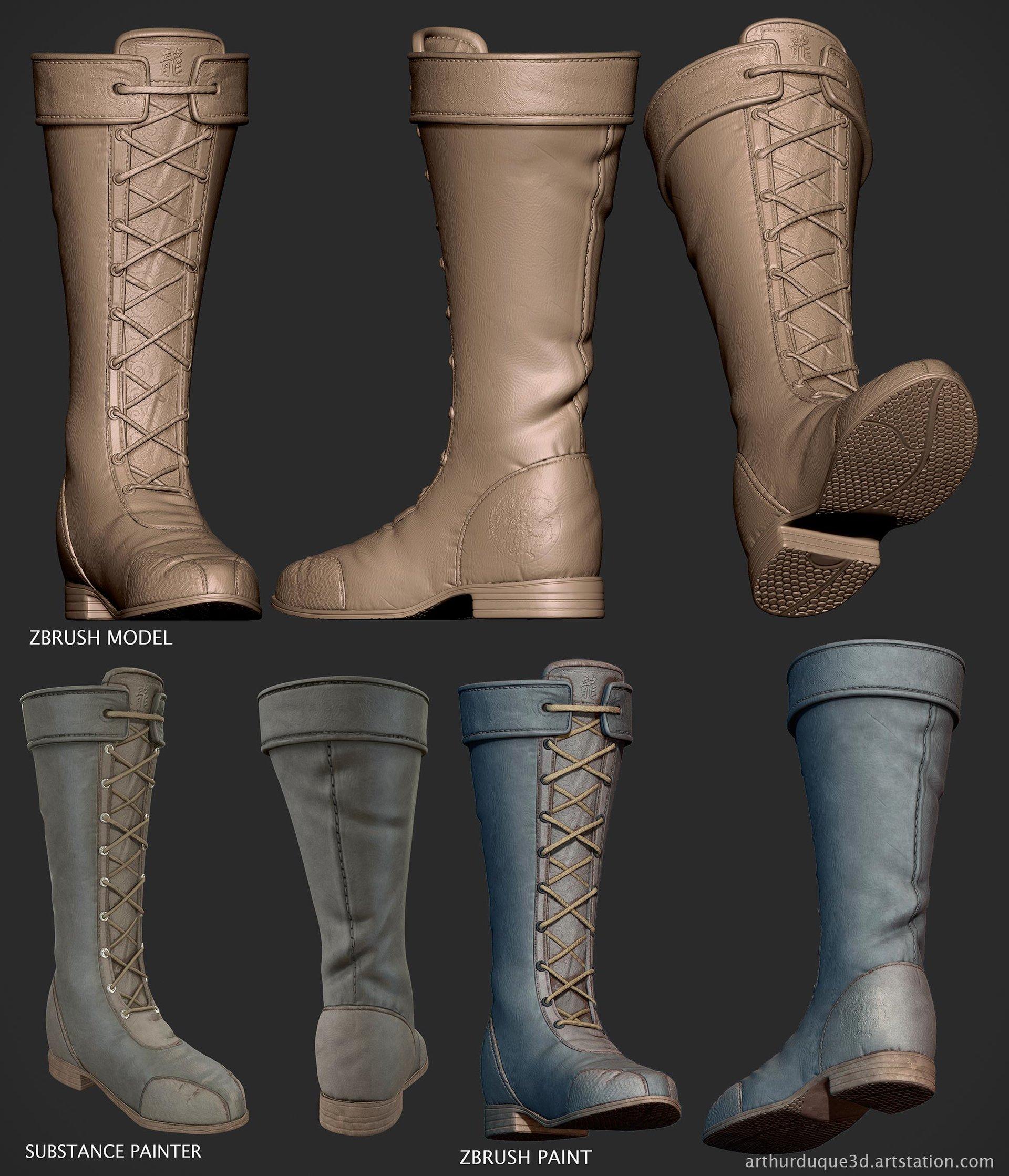 Arthur duque chunli botas
