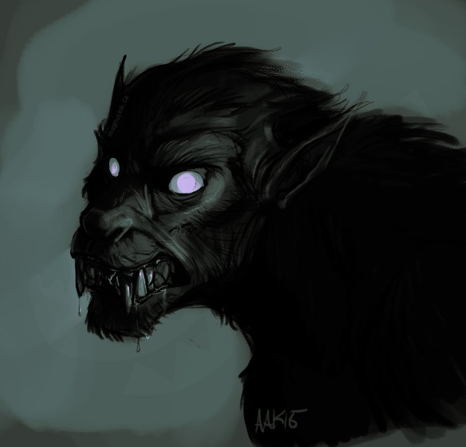 Amanda kadatz 20150726 werewolf sketchpaint 2