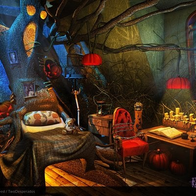 Milica todorovic branislav boskovic pumpkinworld house kidsroom background
