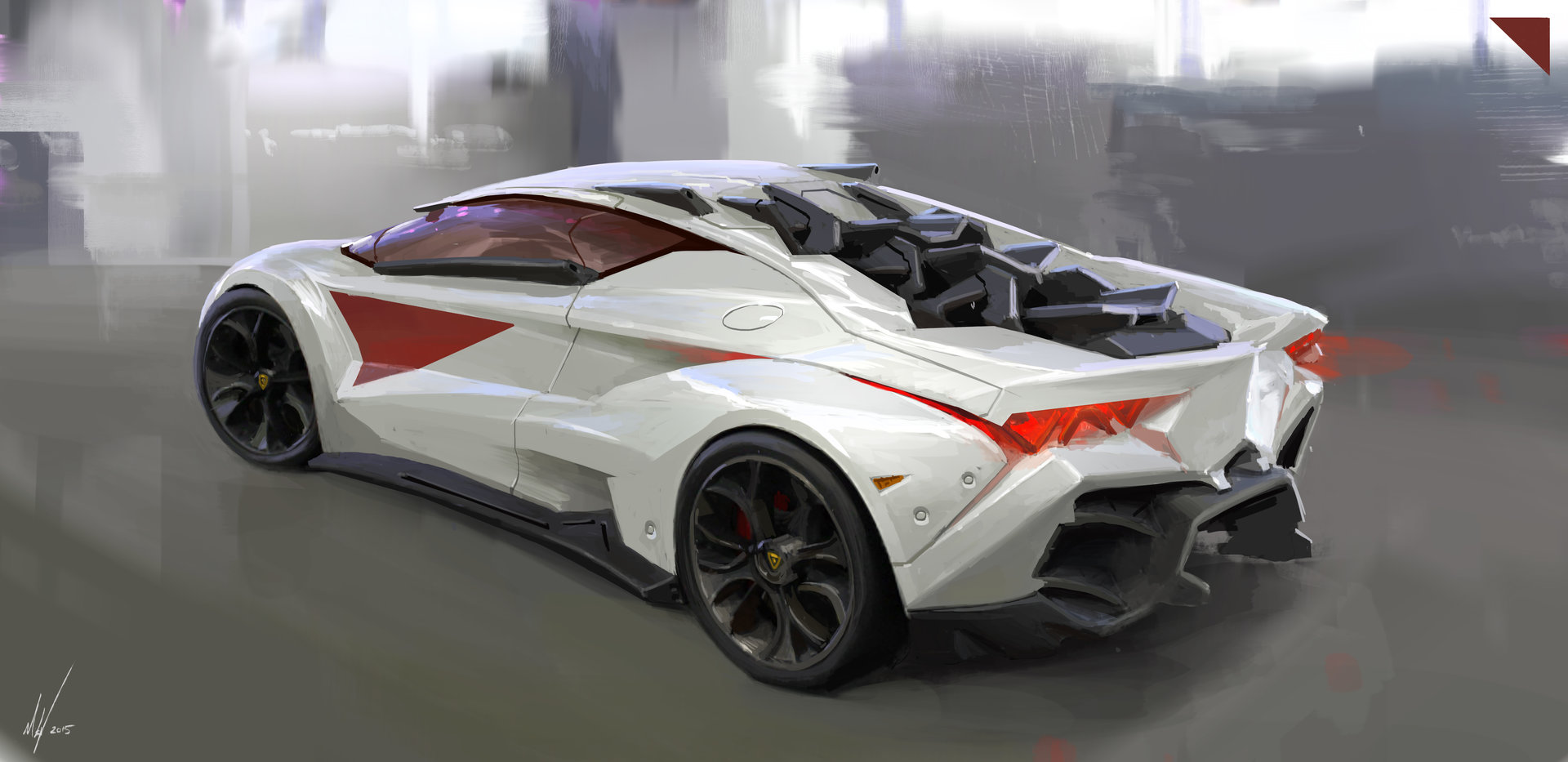 Artstation Lamborghini Concept 2015 Michal Kus