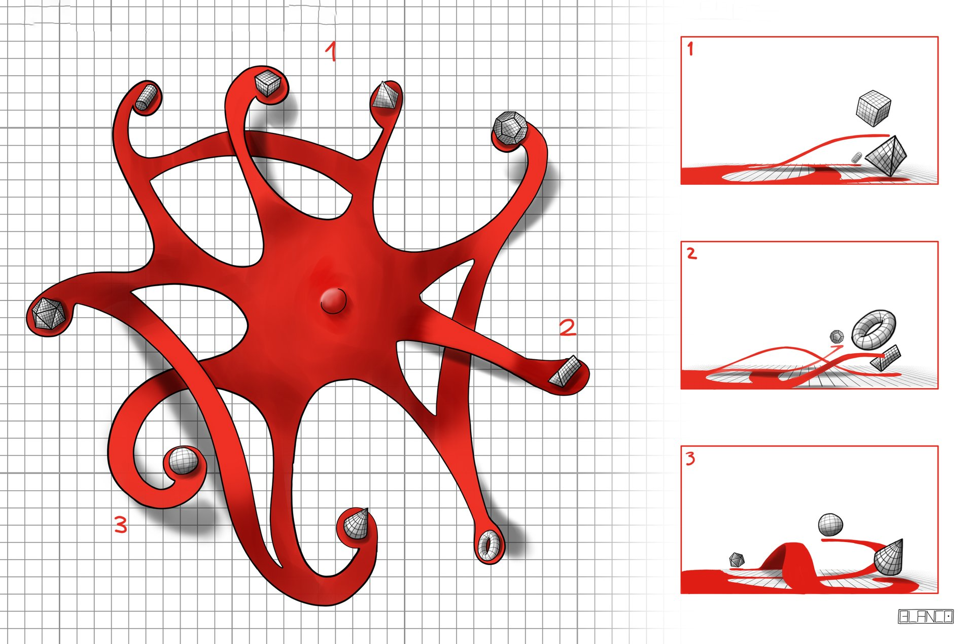 Felipe blanco desenho de conceito neuronio topo