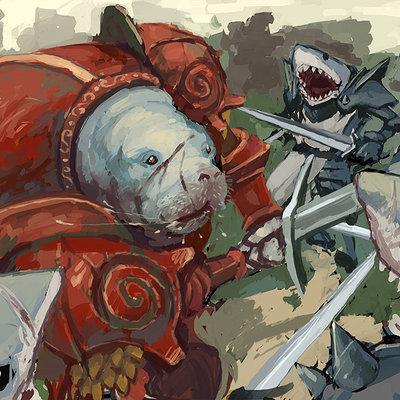 Greeme doe 004 sir lamantin beat the sharks