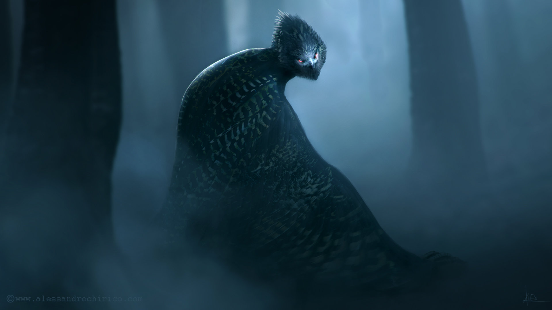 Alessandro chirico owl beast body env alessandro chirico