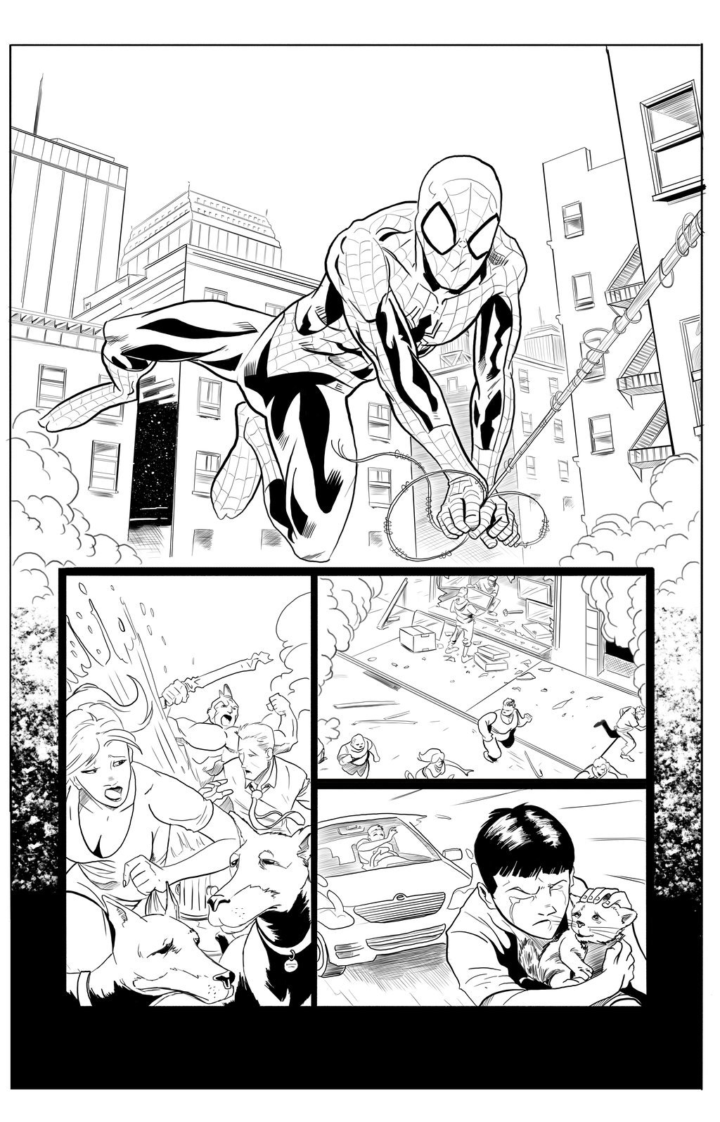 Matt james spider man sample page 4 by mattjamescomicarts d7ga5ak