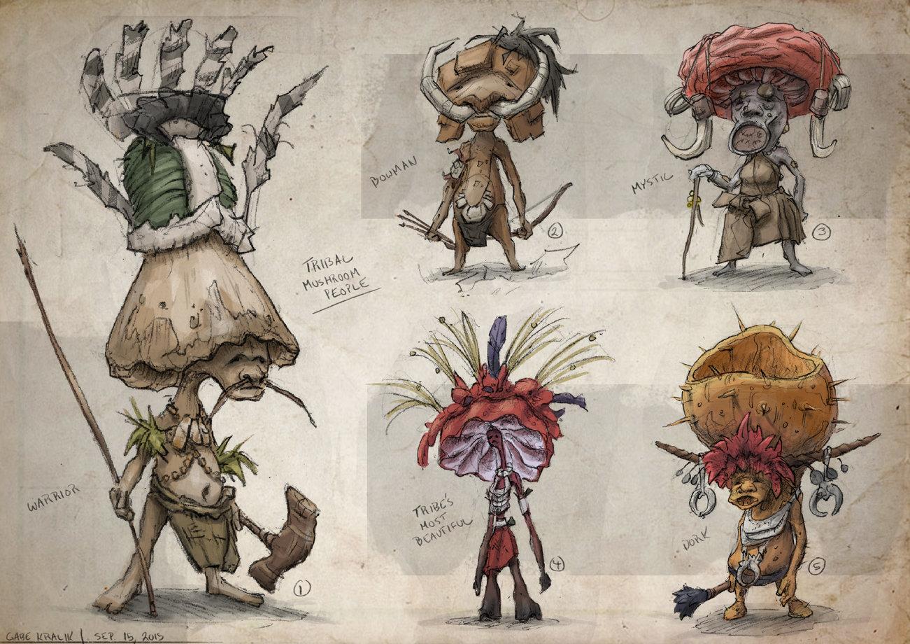 Gabe Kralik Tribal Mushroom People