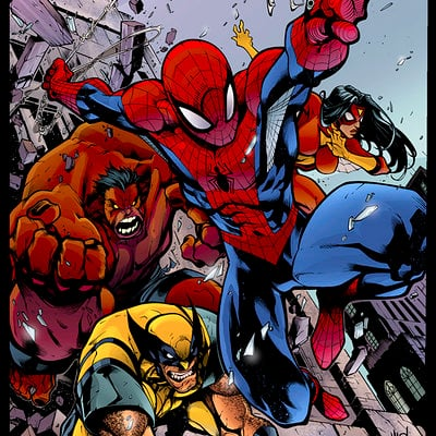 Todd rinker avenging spiderman promo by mad dymartgd flats by trinitymathews d6205yh