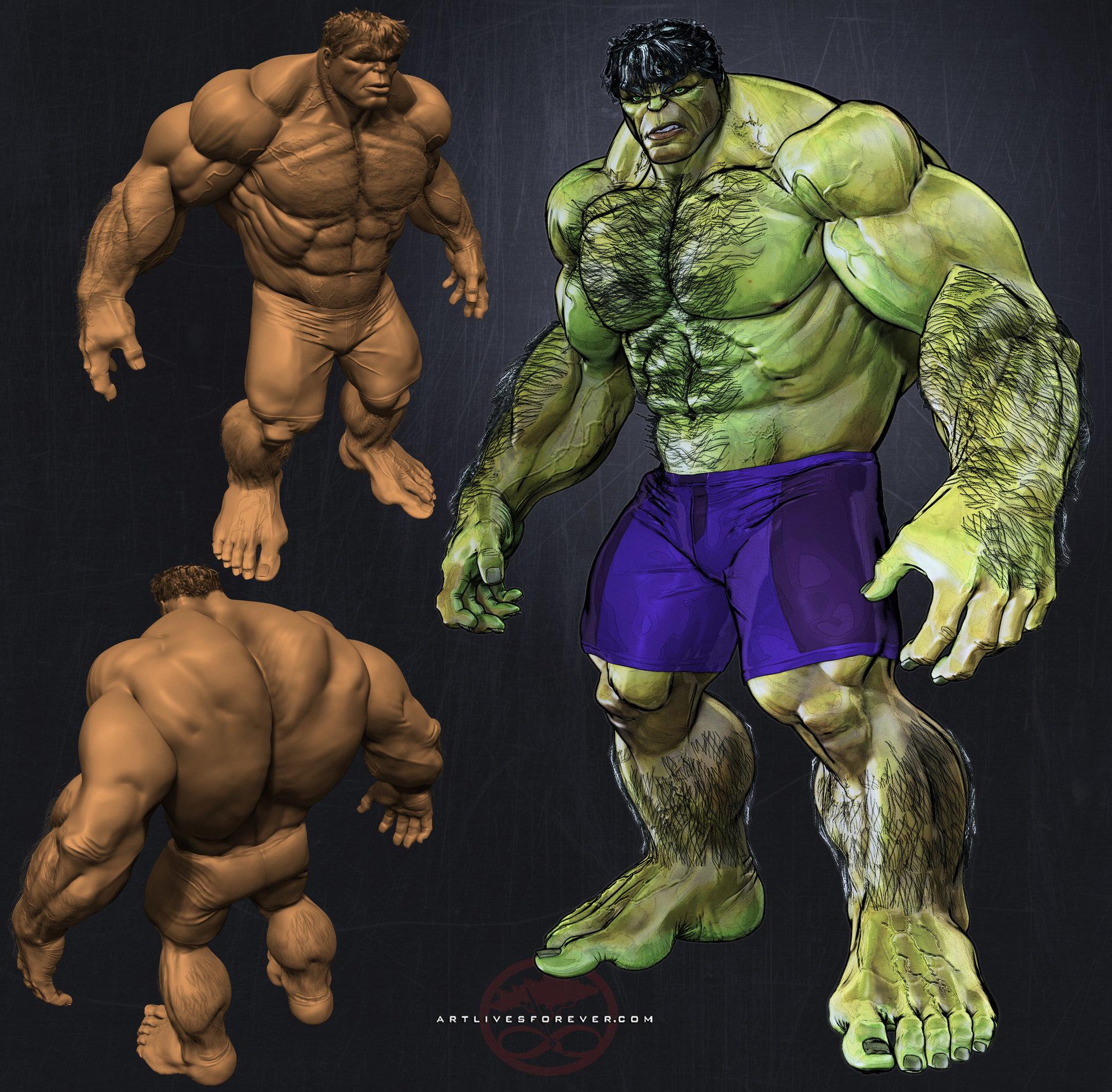 Albert foster hulk pose