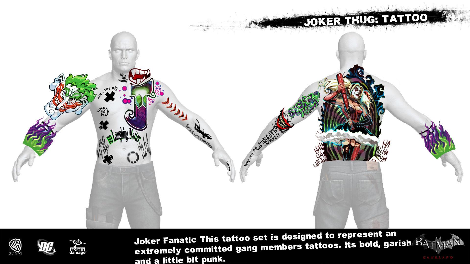 Manuel augusto dischinger moura splashdamage joker thug tattoo 1