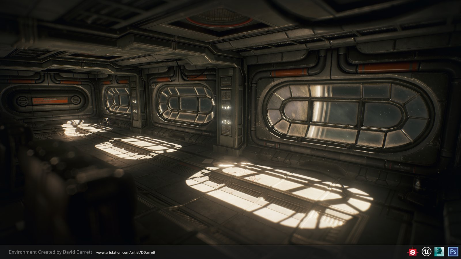 Spaceship interior UE4 environment