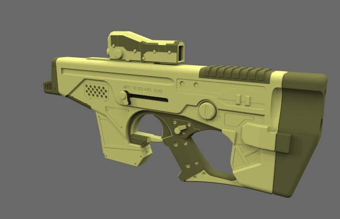 German impache render gun 1