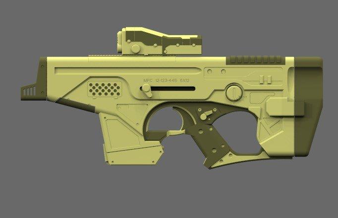 German impache render gun 3