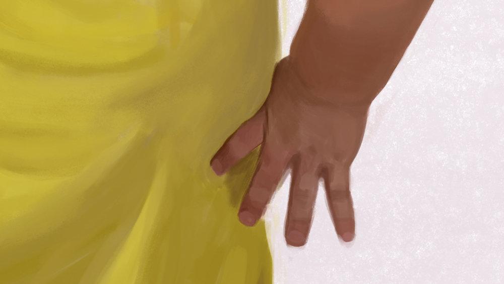Detail hand