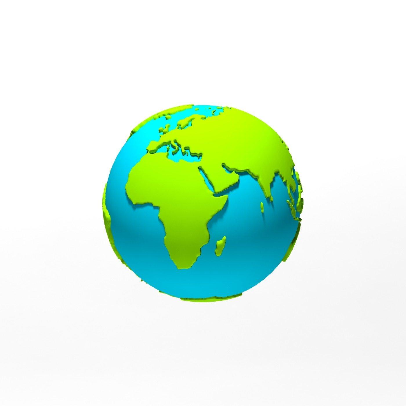 Paulsen Design Cartoon World Globe