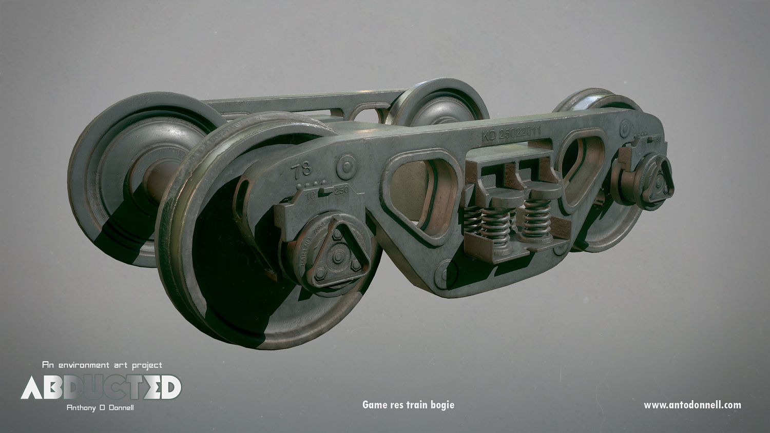 Game res bogie textured with Substance Painter