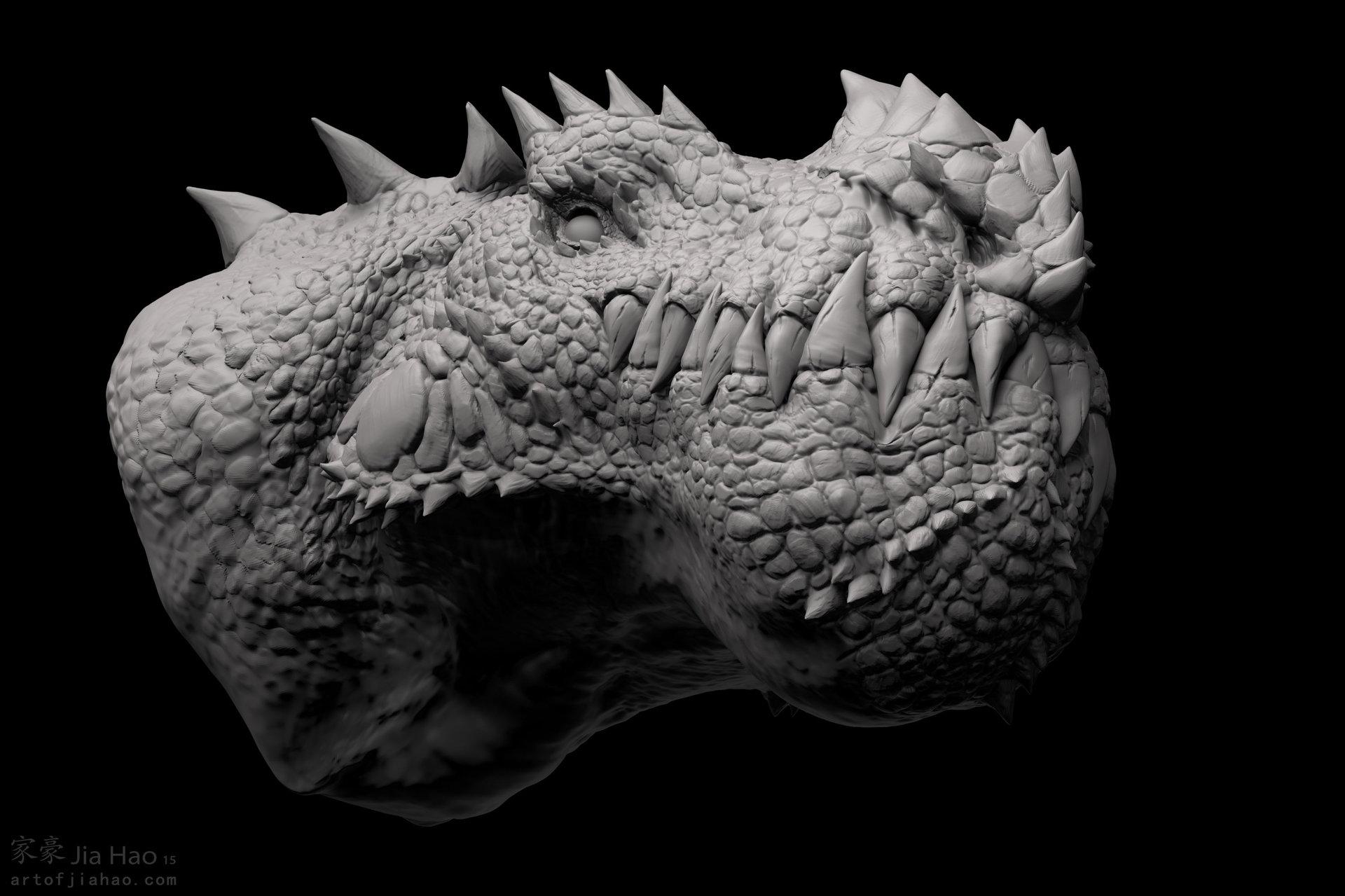 Jia hao 2015 09 cryosaurus sculpt 02