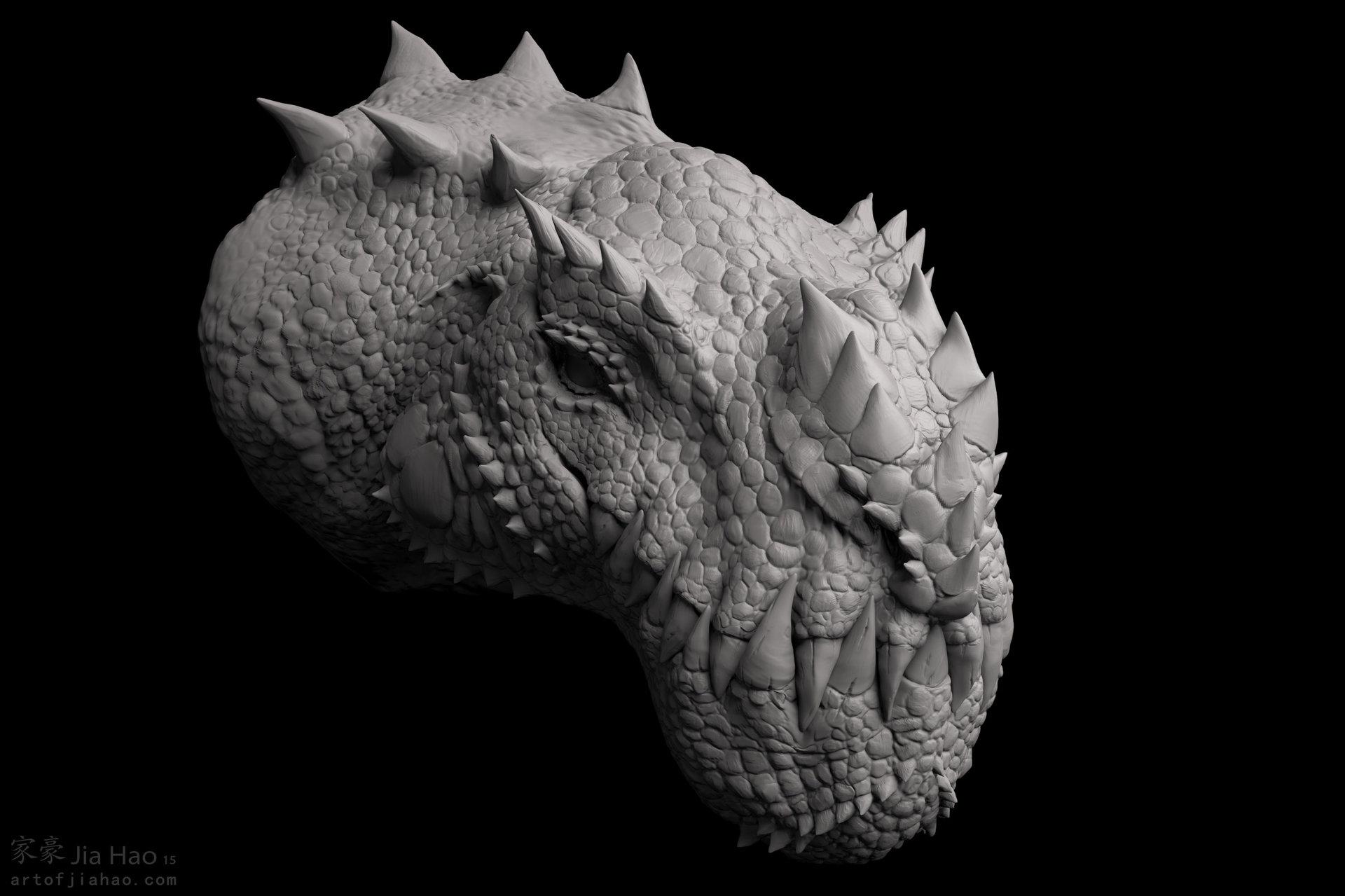 Jia hao 2015 09 cryosaurus sculpt 04