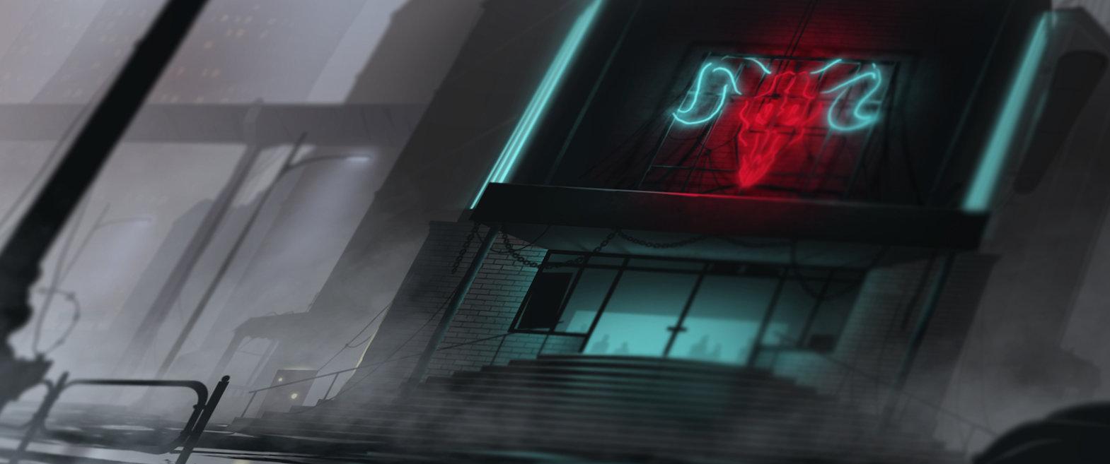 Gediminas skyrius club exterior blurred