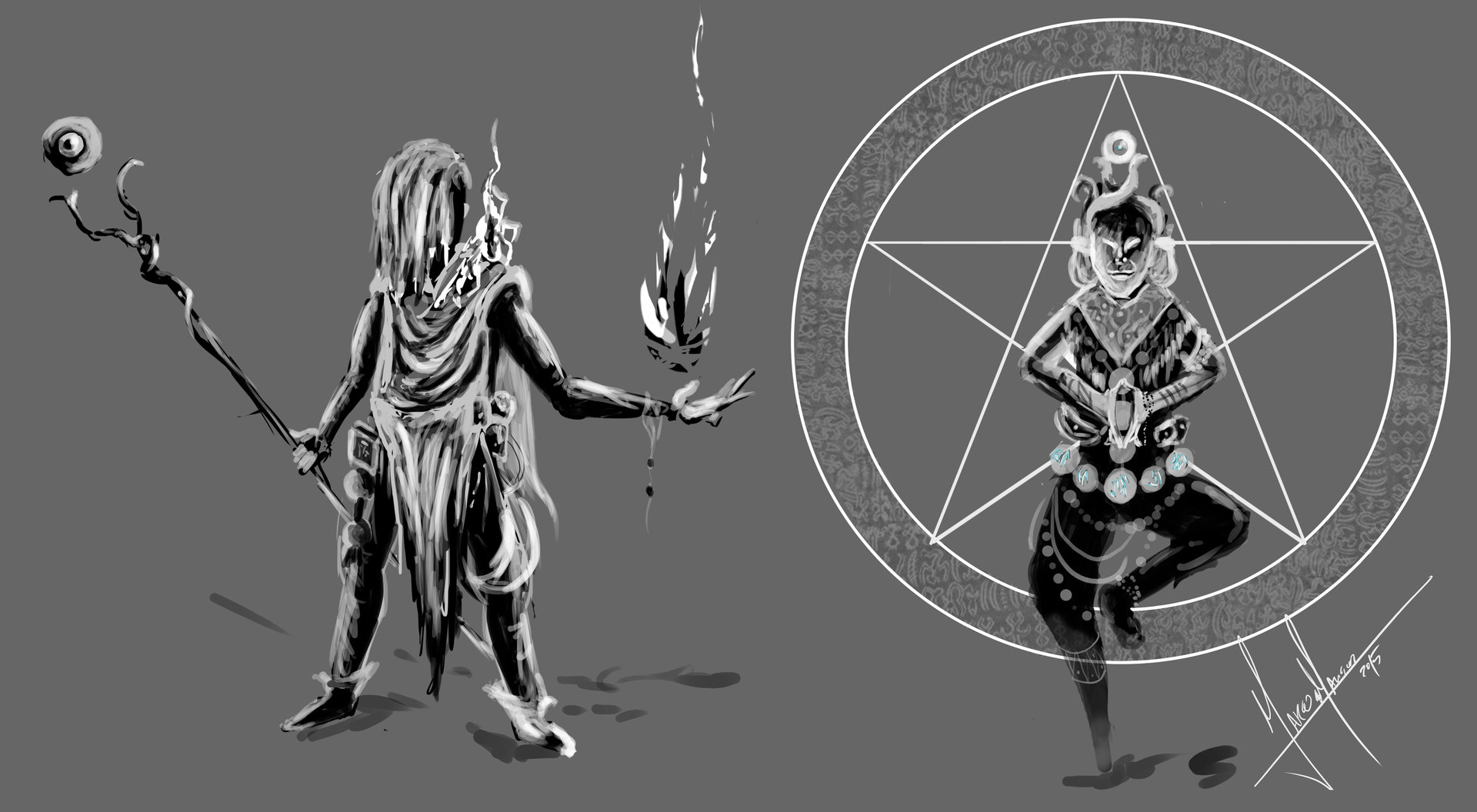 Marcos mansur concept caracters kind of shaman