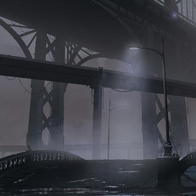 Gediminas skyrius bridge scene