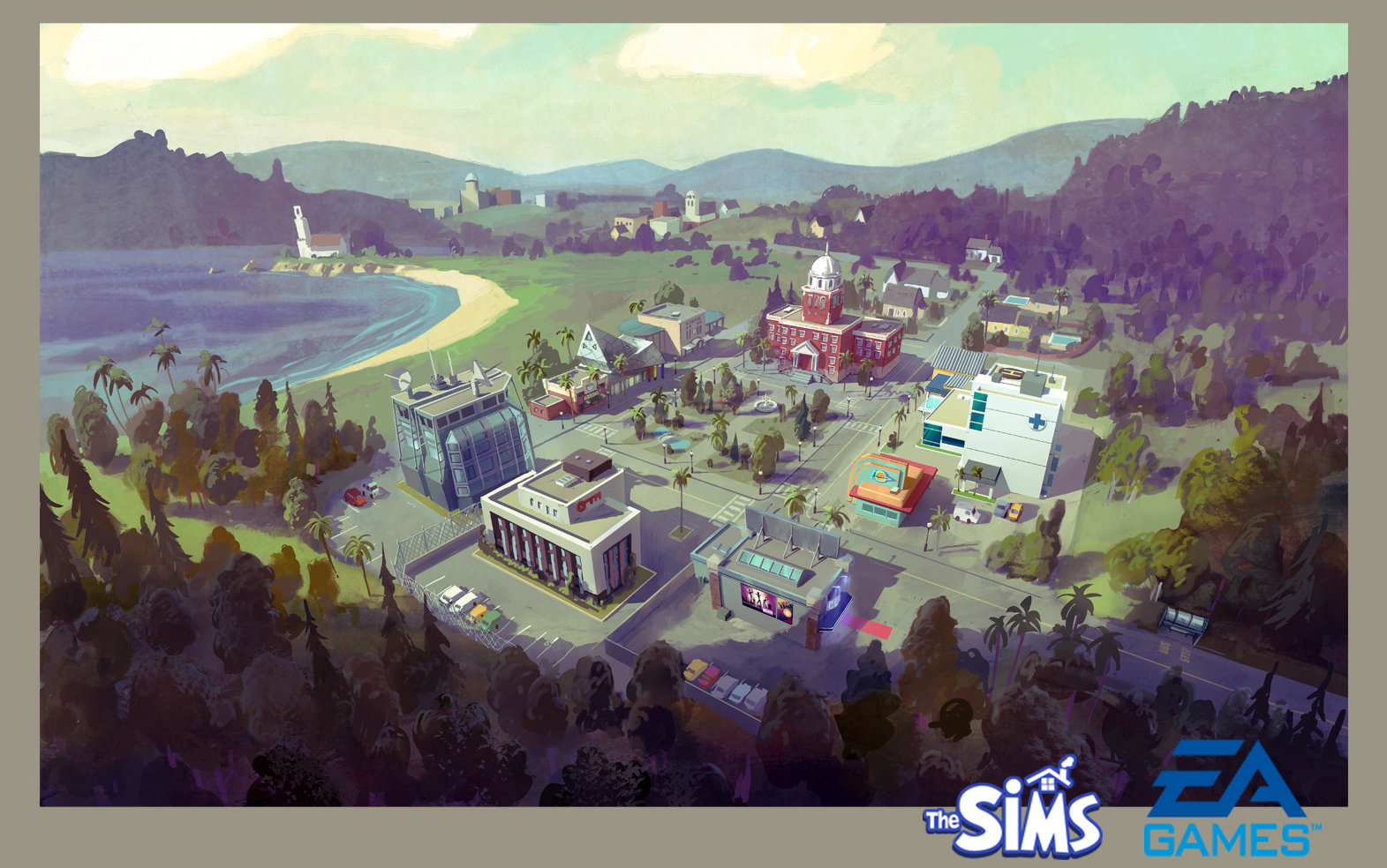 Concept work for the Sims