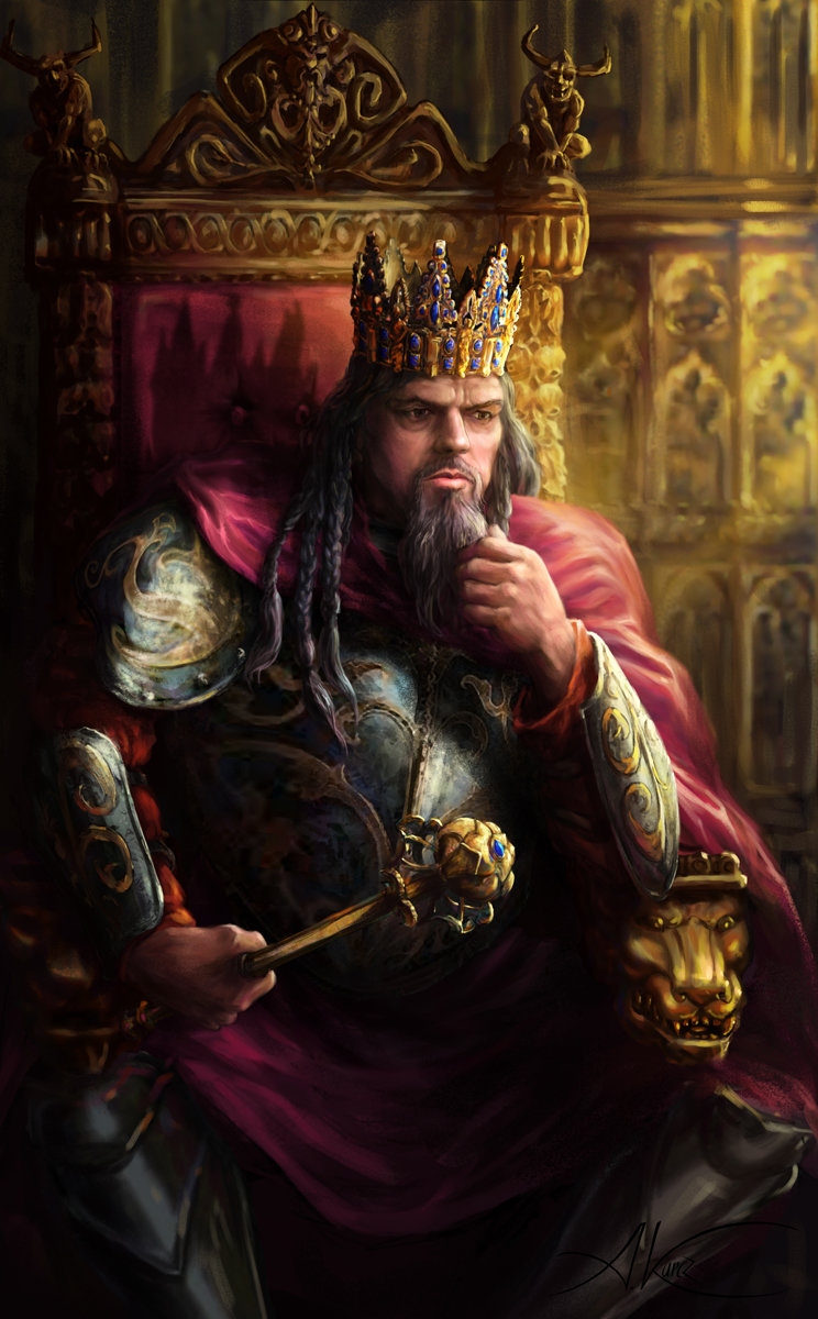 This is an image of Versatile Drawing Of Medieval King