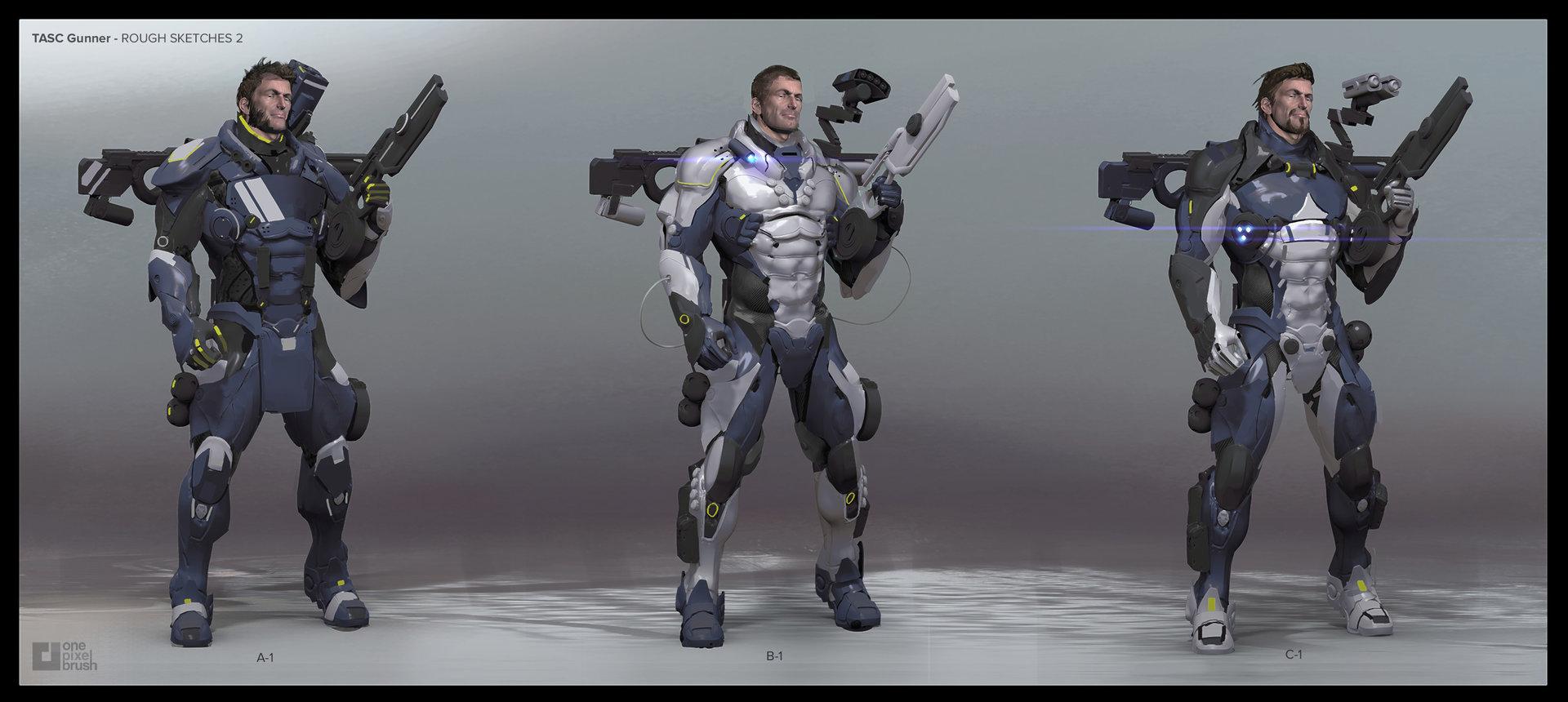 Boss key productions concept art depository blu tasc gunner 2