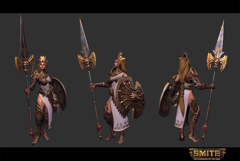 Smite - Athena - Golden Skin by jaggudada on DeviantArt