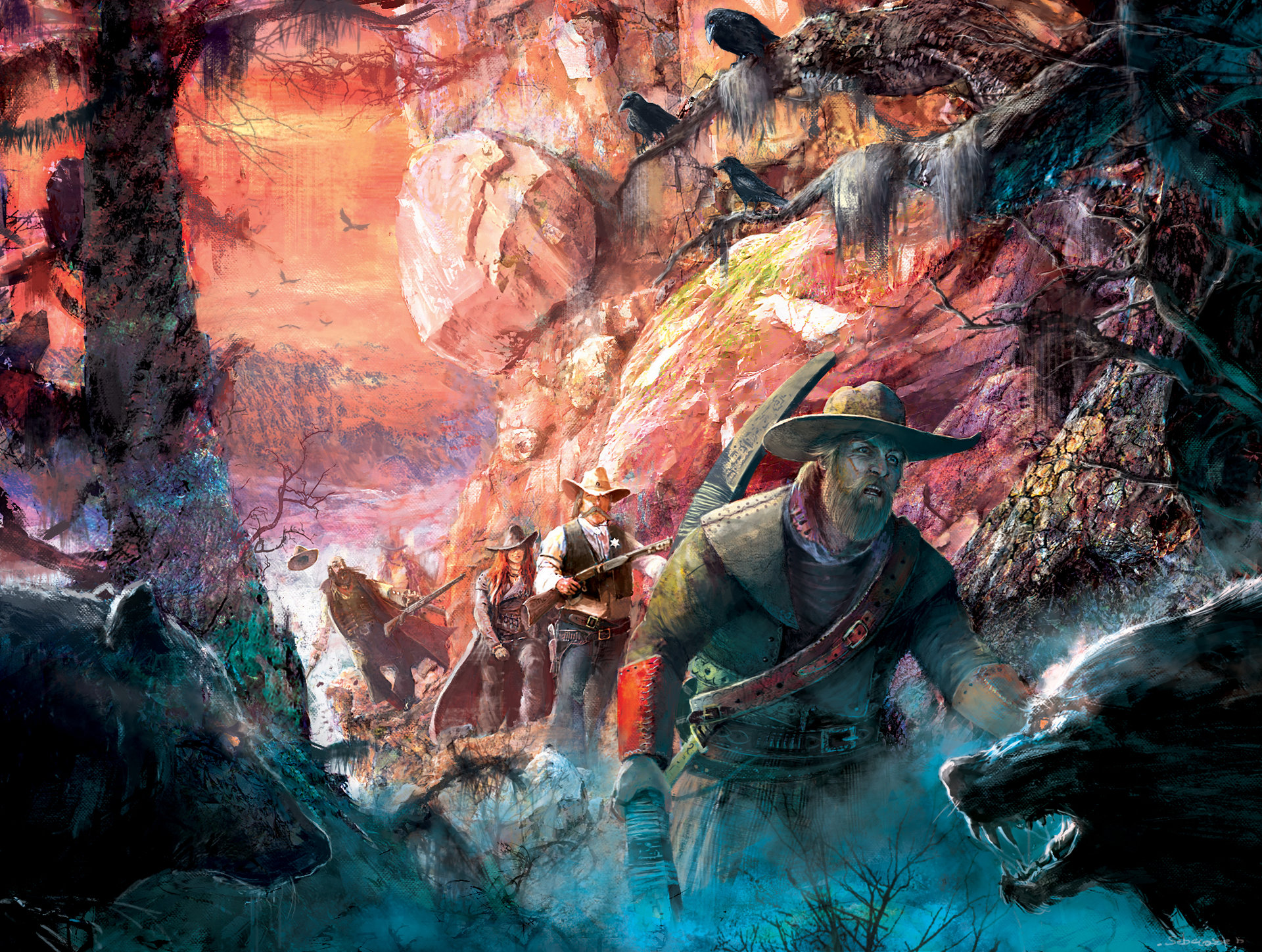 Sebastien ecosse rgb hunt on the mountain illus sebastien ecosse 5