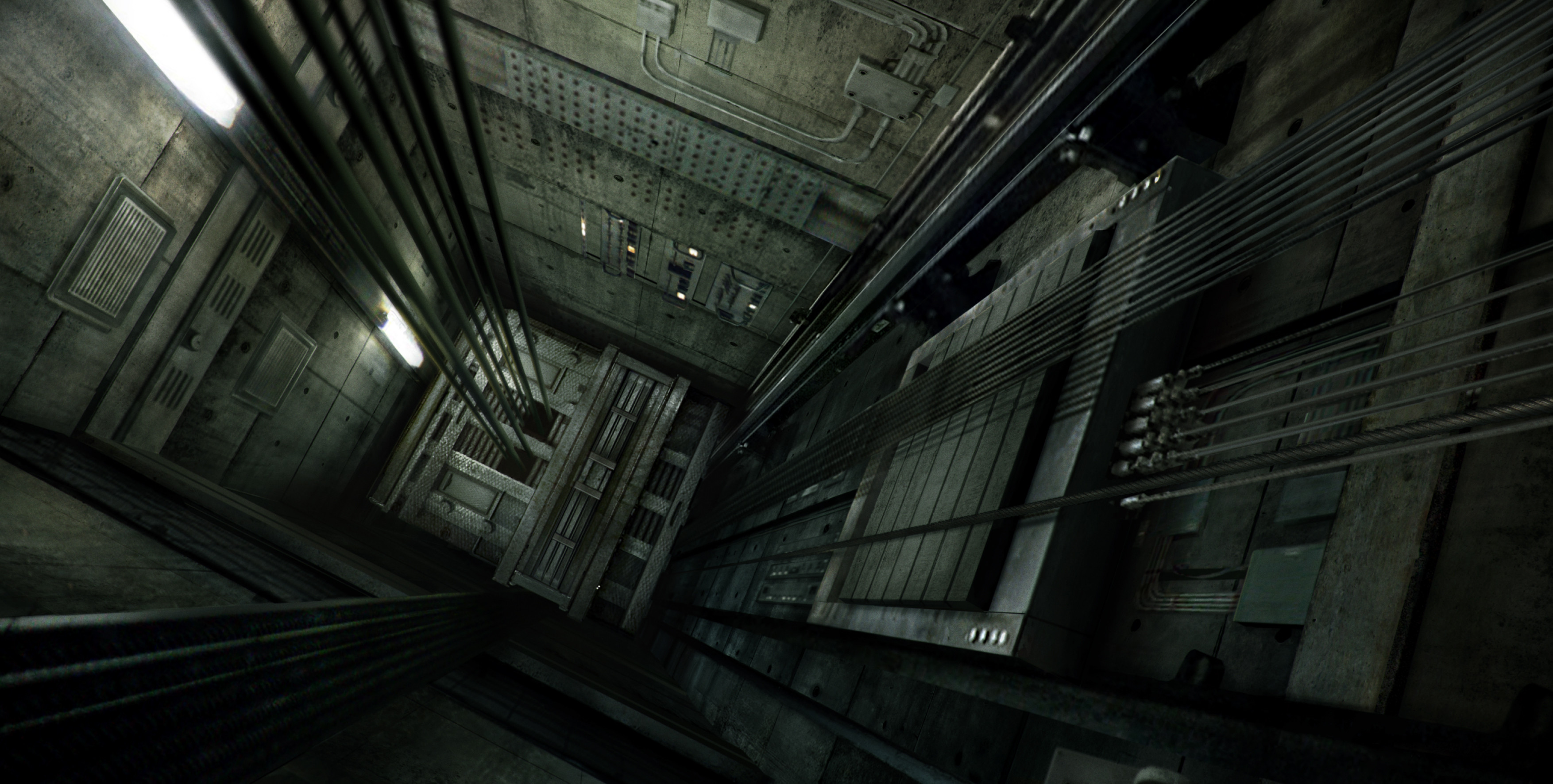 Final concept for the elevator shaft leading to Doctor Zola's Room