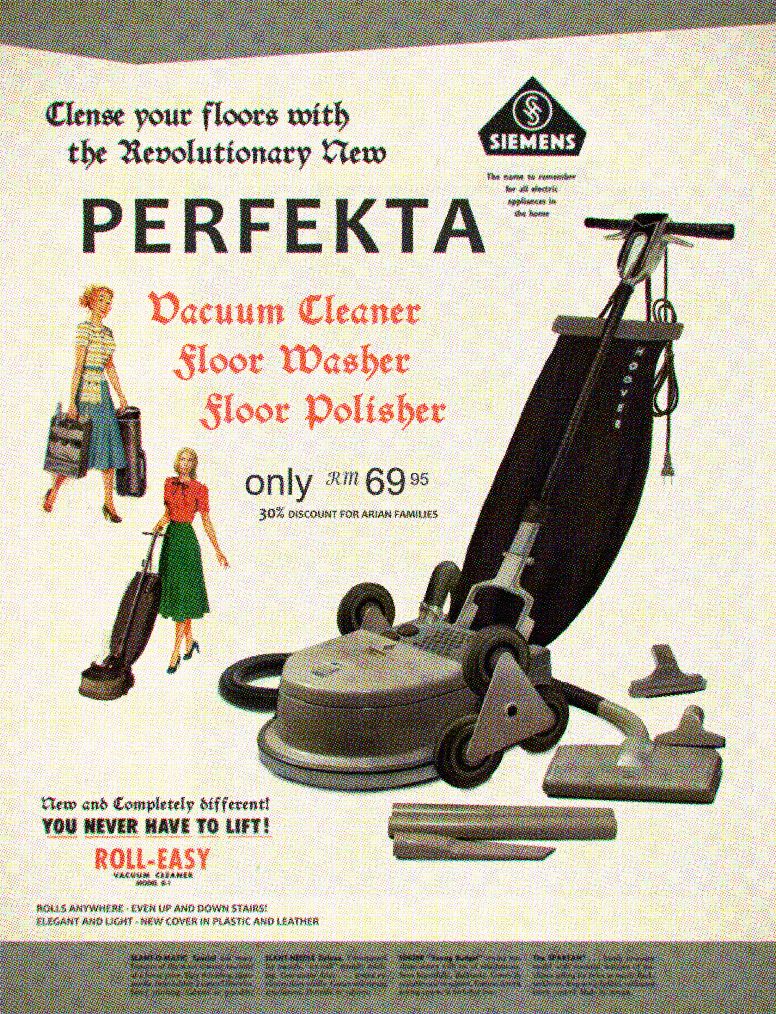 """""""Perfekta"""", the German-designed vacuum cleaner which will cleanse your floors."""