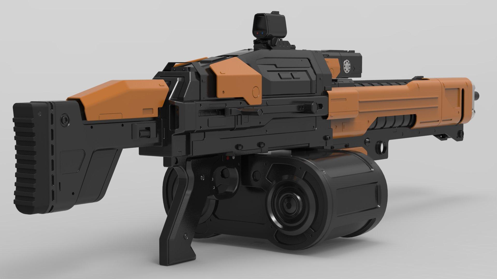 Christian vasquez machinegun render3
