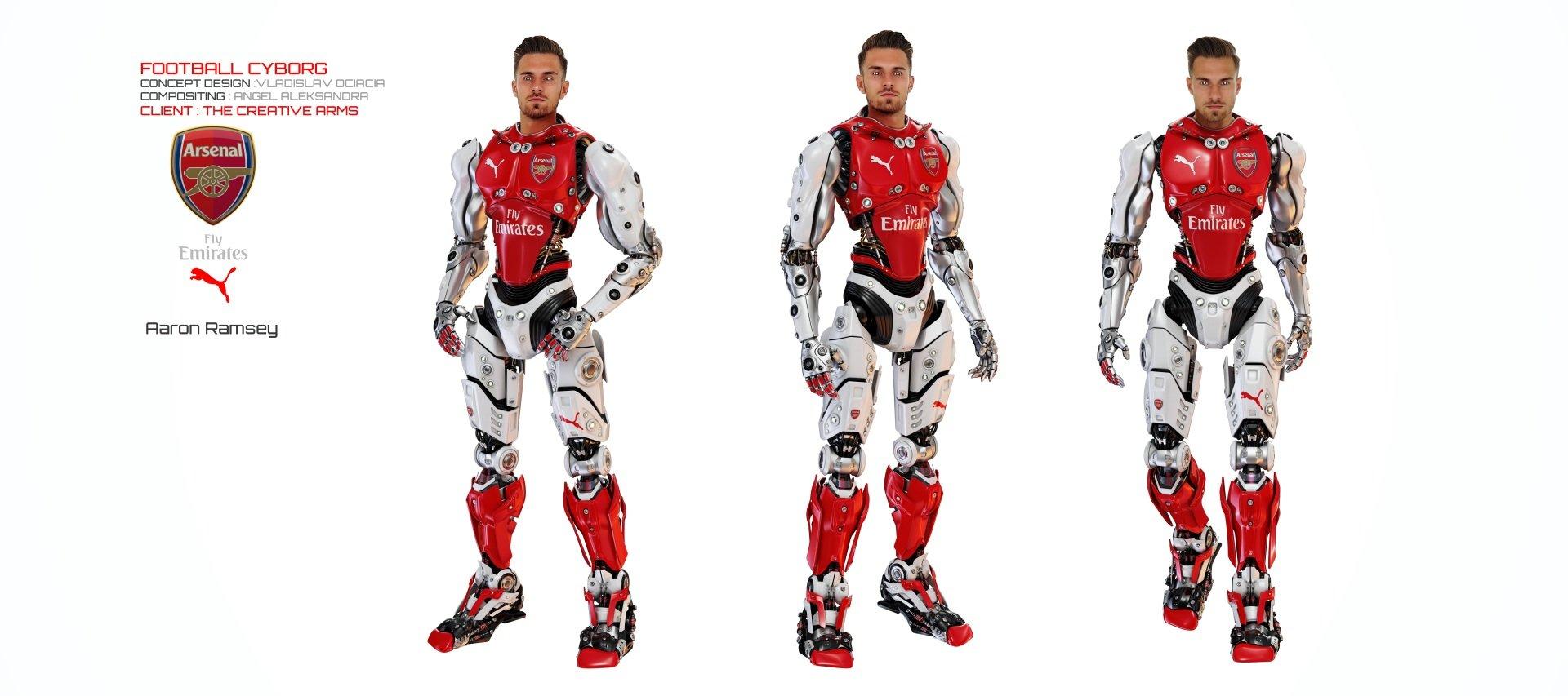 Vladislav ociacia football robot aaron ramsey 2
