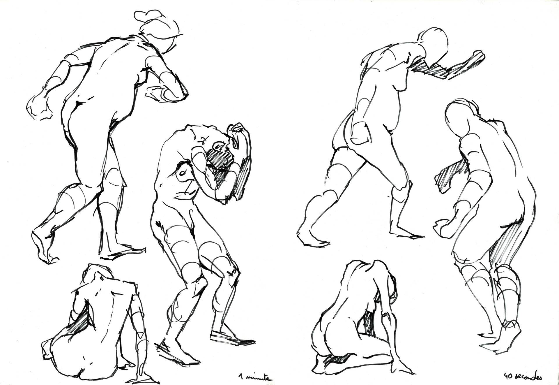 1 minute poses.