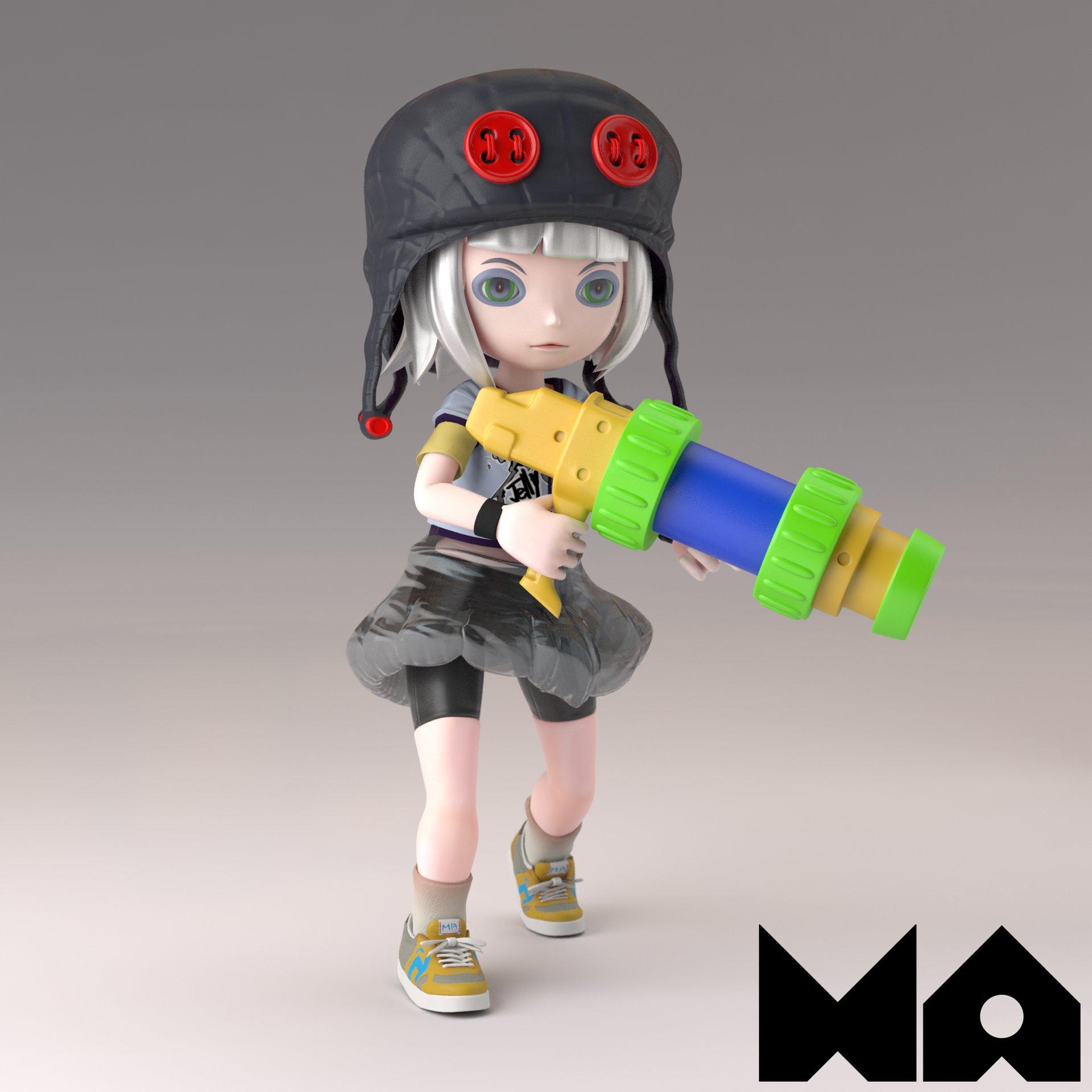 Masatomo suzuki kurage girl render01b