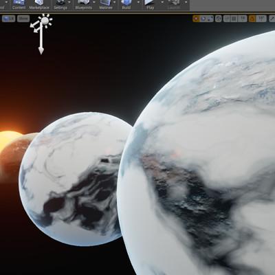 尝试制作一些星球 可控制的精度和地形