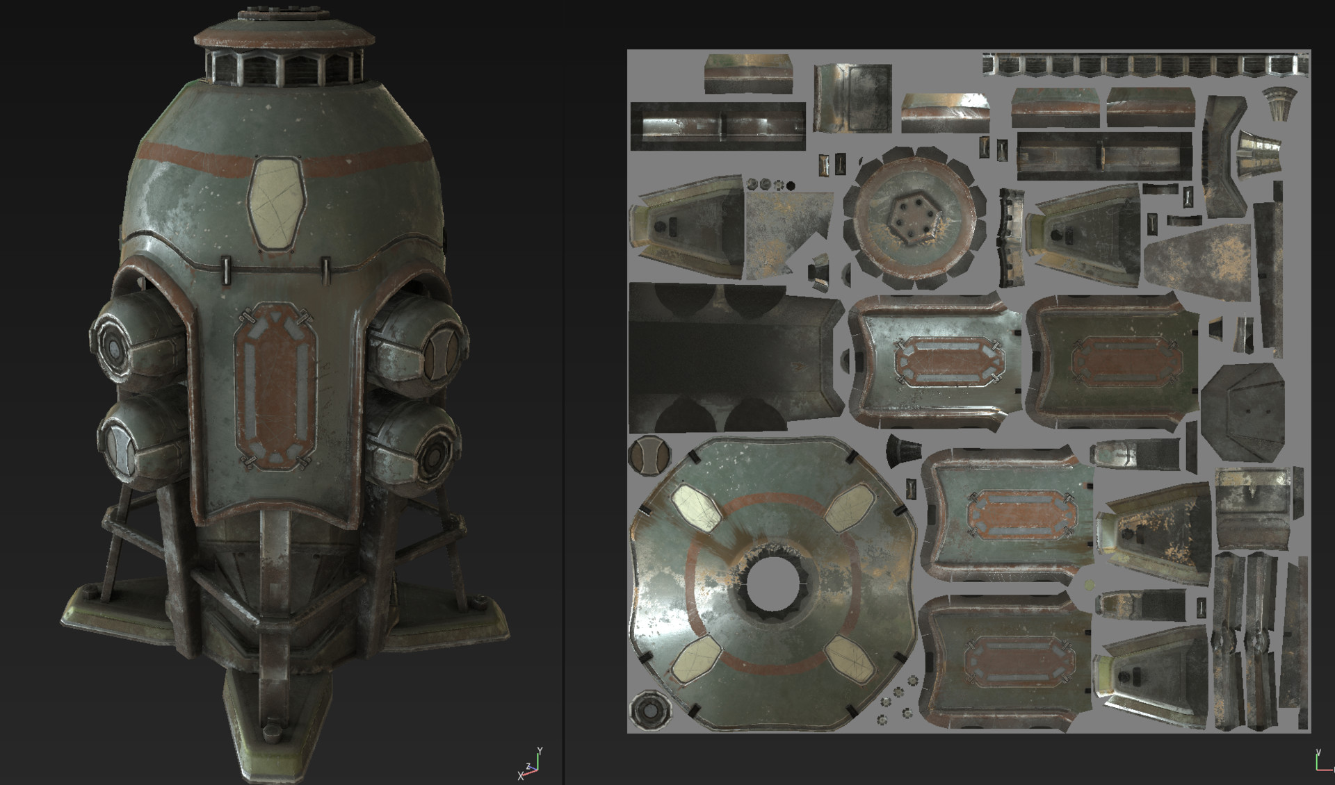 artstation - energy pod - sketchfab and marmoset viewer test