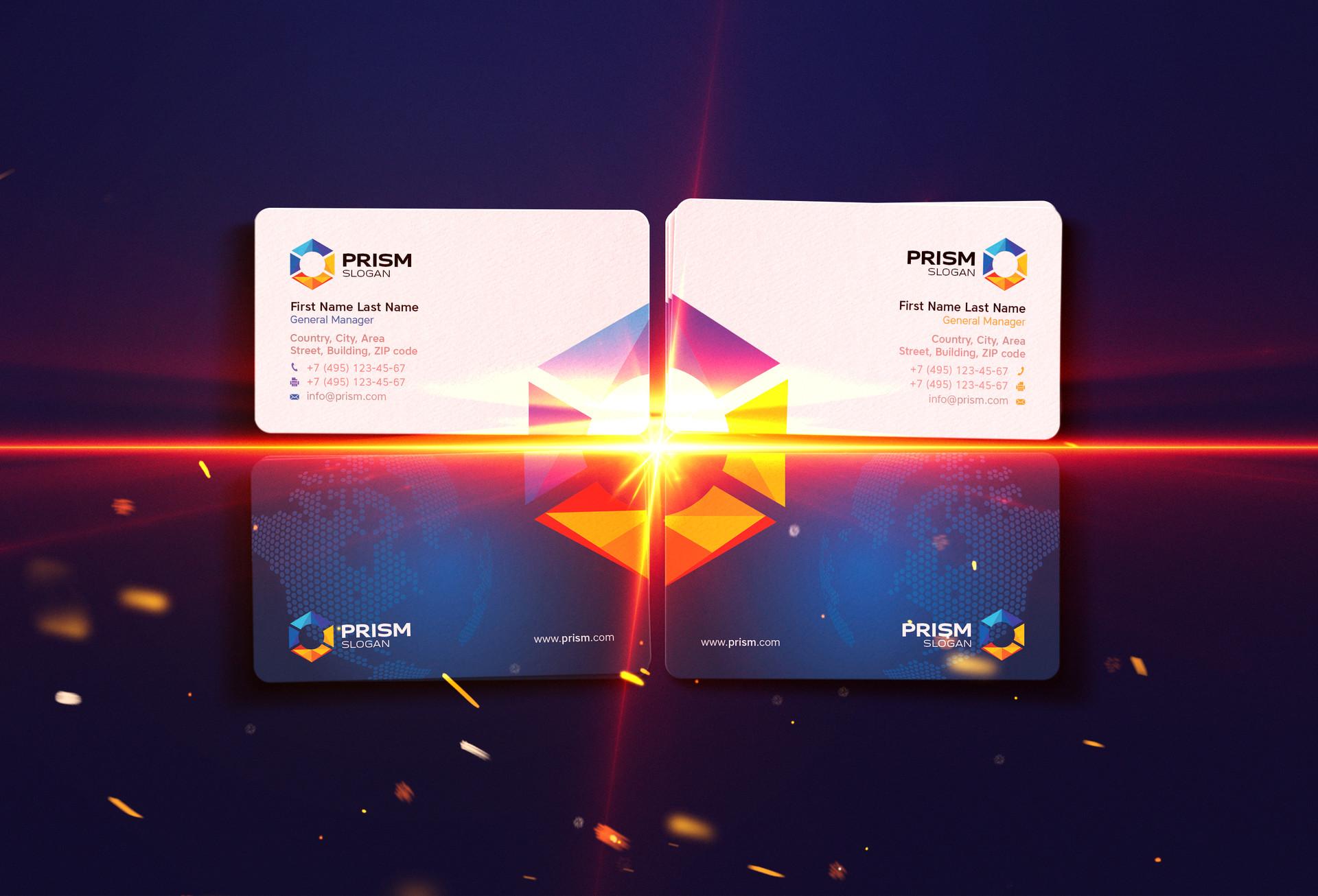 ArtStation - Indigo - Business Card Mock Up Die Cut v1.0, Vadim ...