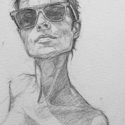 Tomek larek akt szkic olowkowy