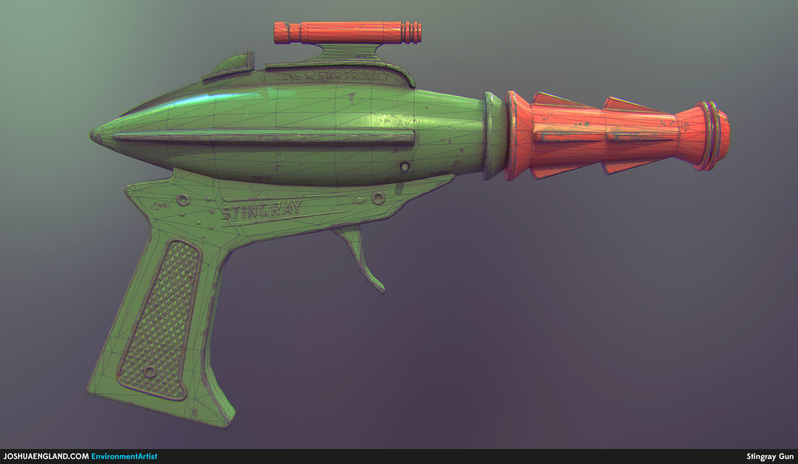 Stingray Gun Wireframe