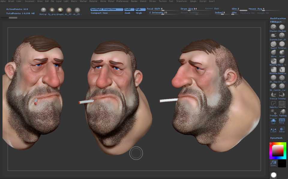Dude old WIP Zbrush