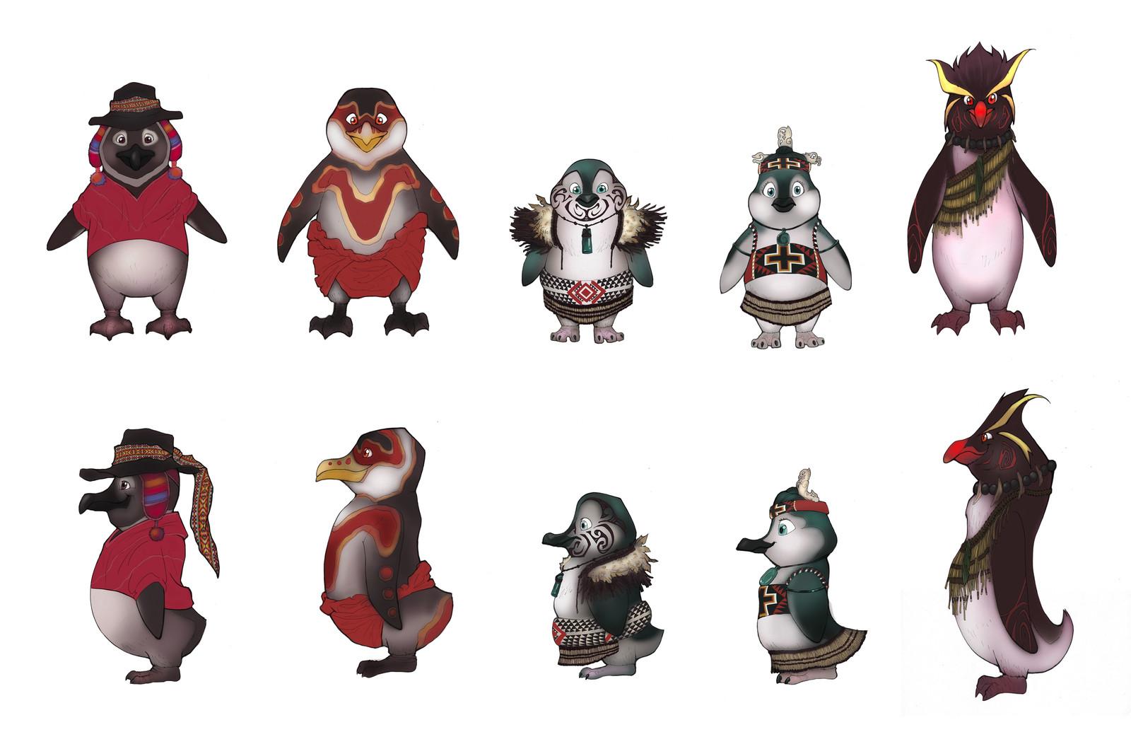 Penguin line-up.
