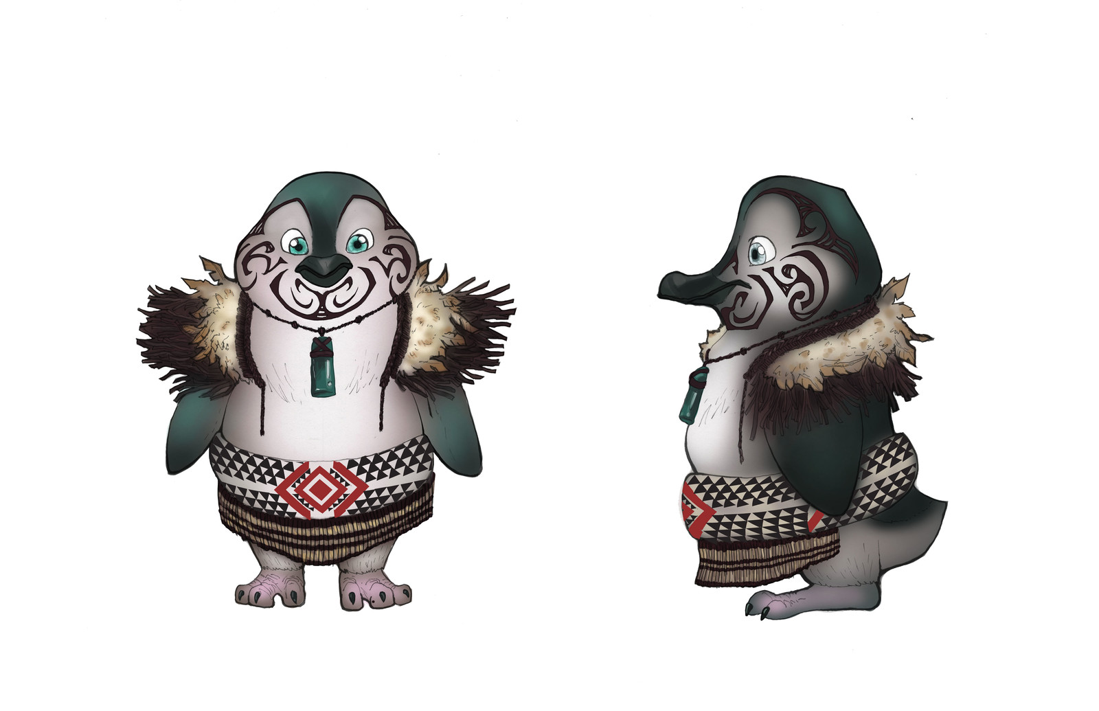 Male Blue Penguin, inspired by the Maori tribes in New Zealand.