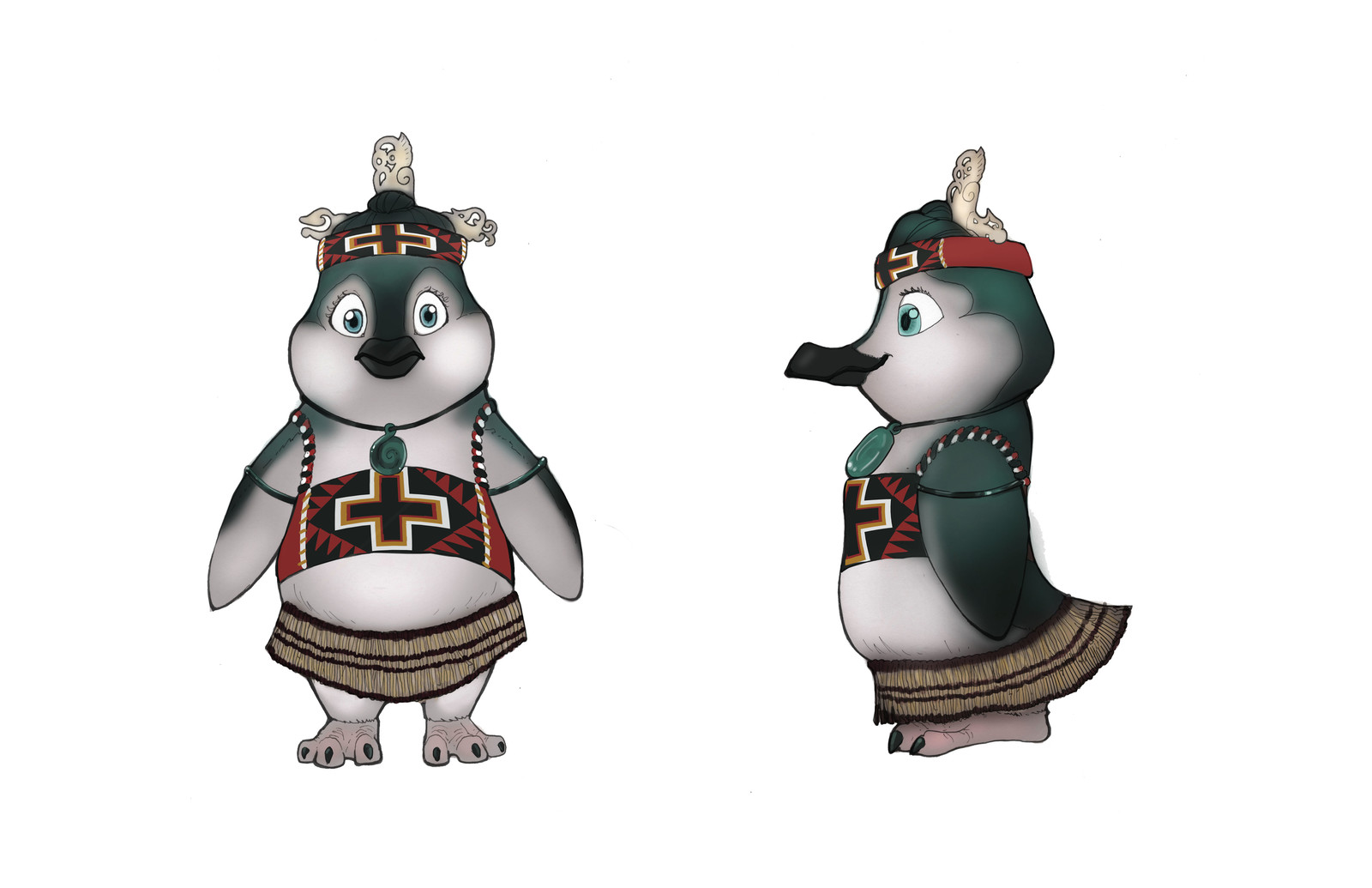 Female Blue Penguin, inspired by the Maori tribes in New Zealand.