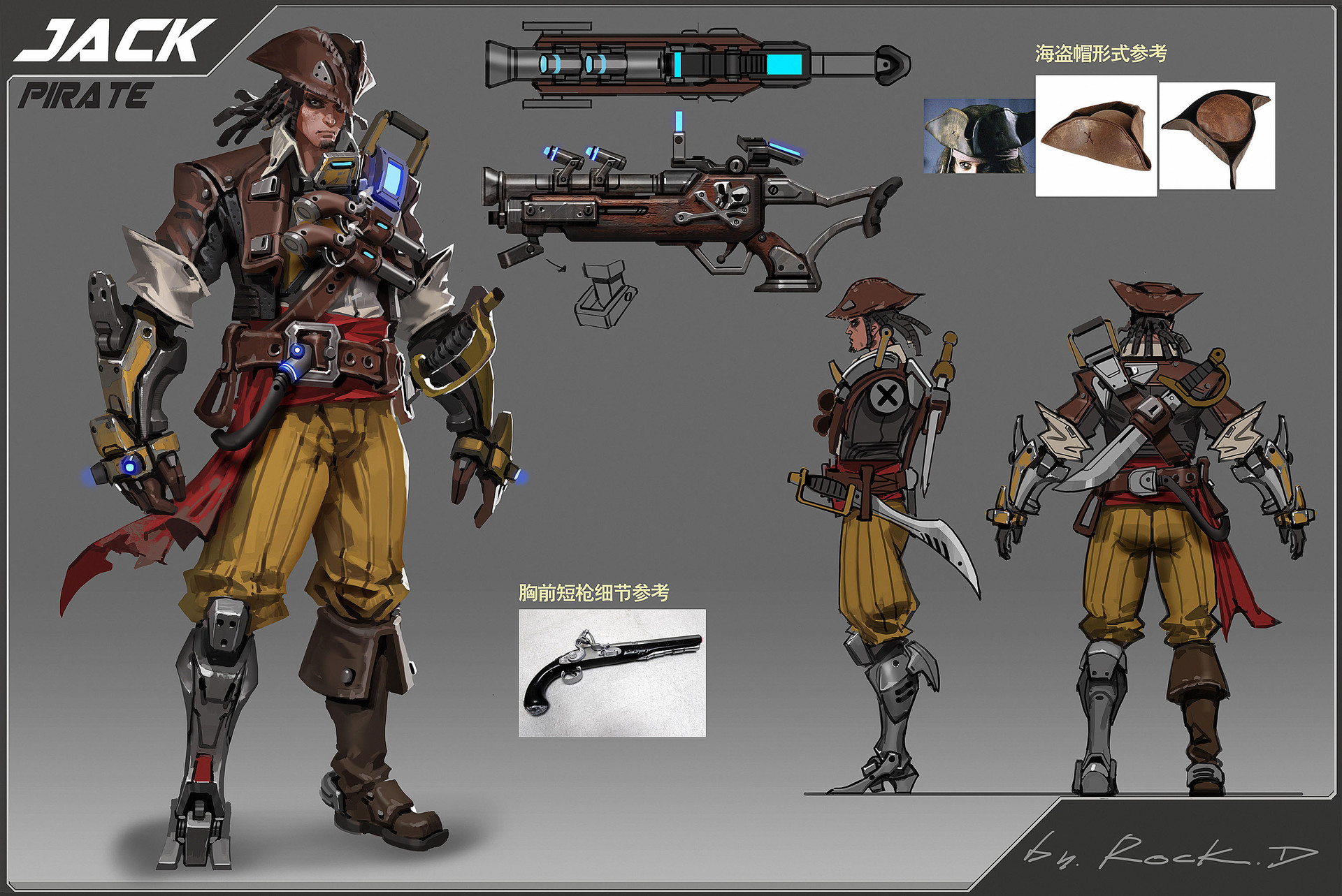 Rock d scifi pirate concept