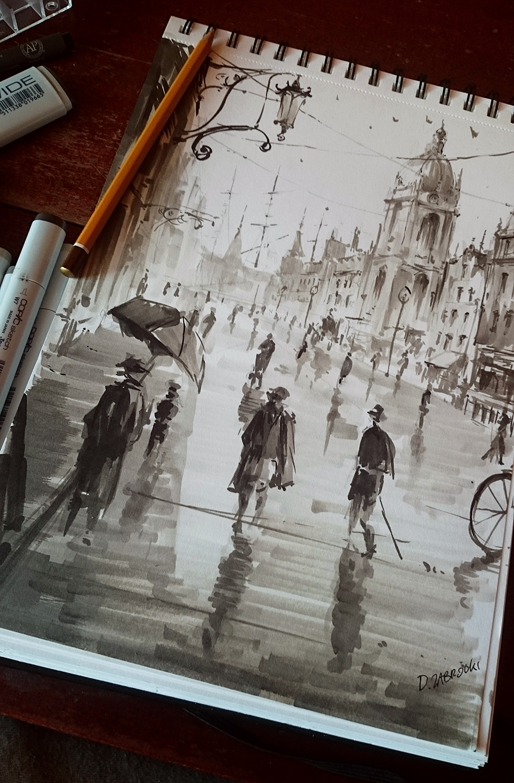 artstation city sketch darek zabrocki