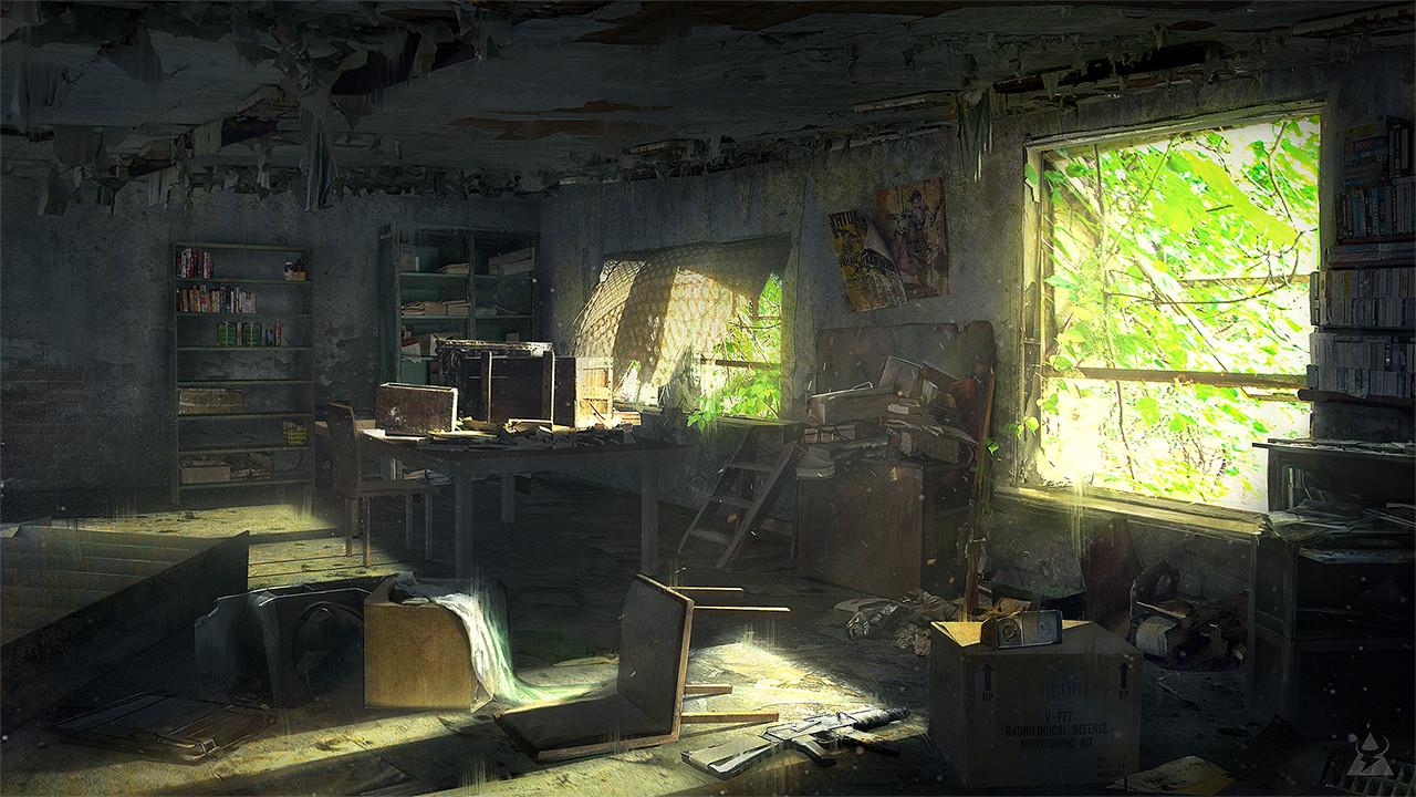ArtStation Abandoned Room Wacaw Wysocki