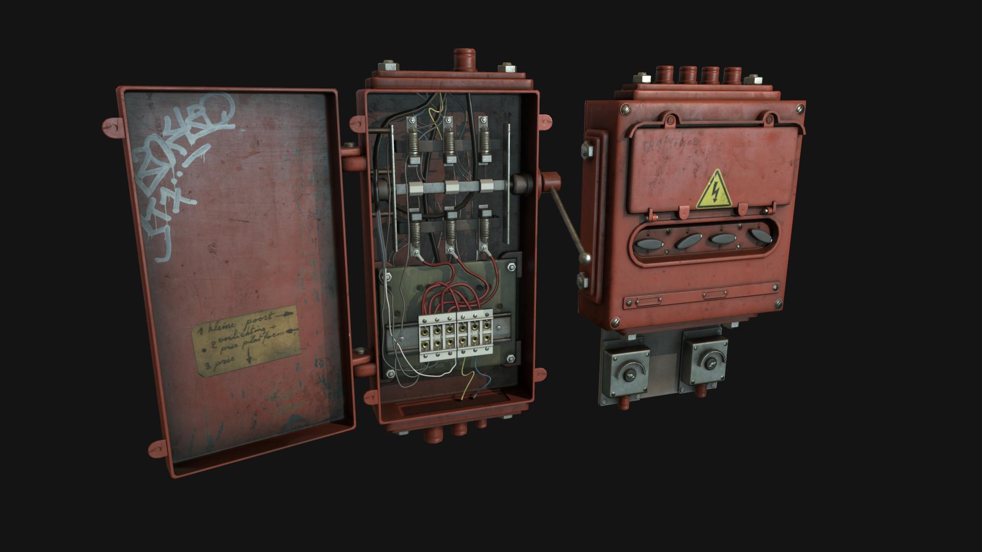 artstation fusebox oleg tsitovich rh artstation com Car Fuse Box fuse box in hitman game