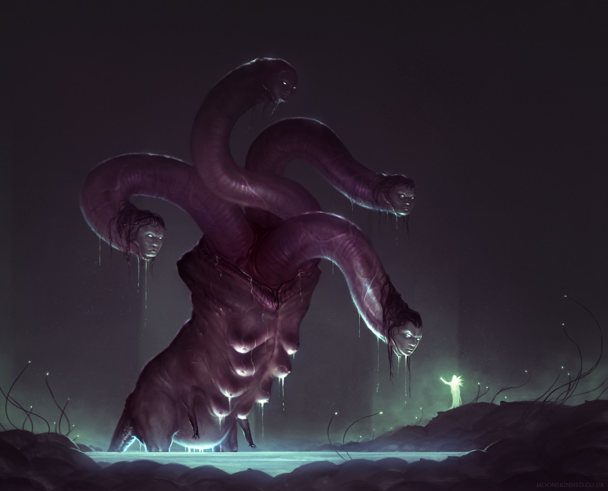 Sam lamont swollen hydra illustration